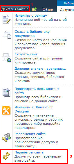 Параметры сайта
